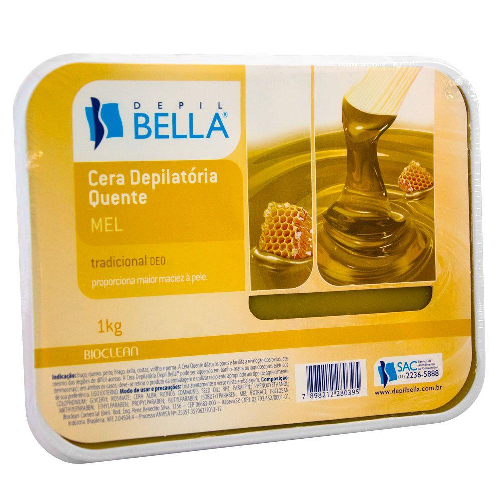Depil Bella Cera Quente Depilatória Natural com Mel - 1 kg