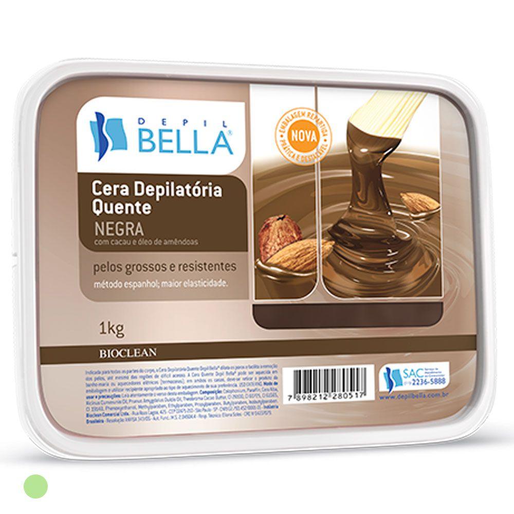 Depil Bella Cera Quente Depilatória Negra - 1 kg