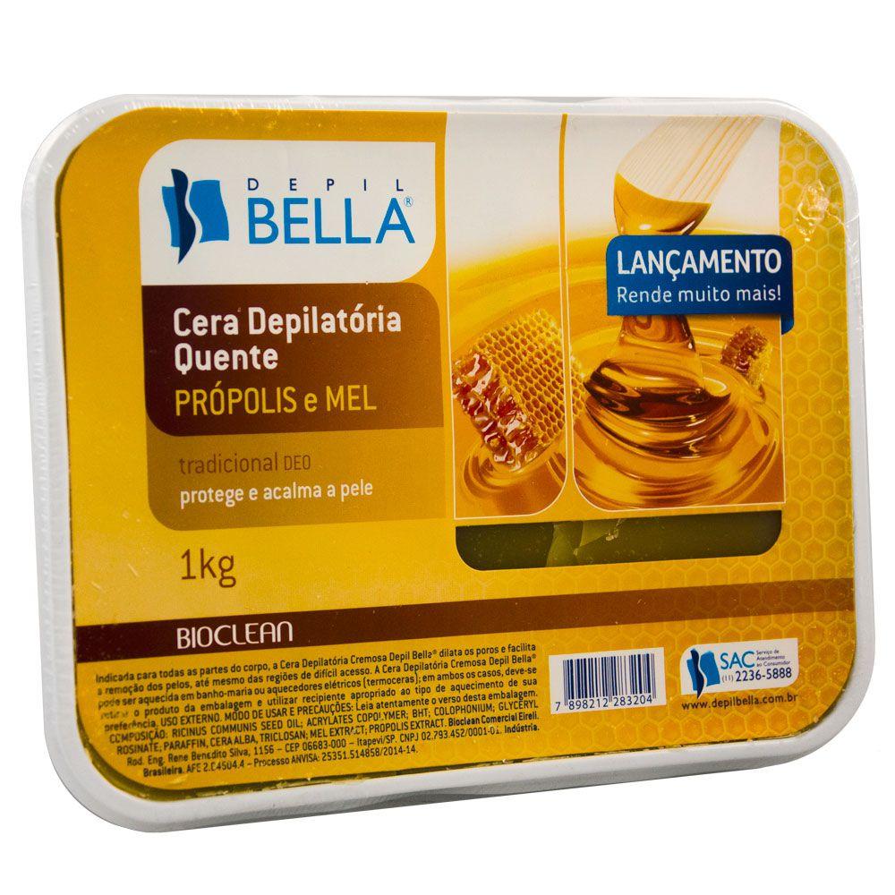 Depil Bella Cera Quente Depilatória Própolis com Mel - 1 kg
