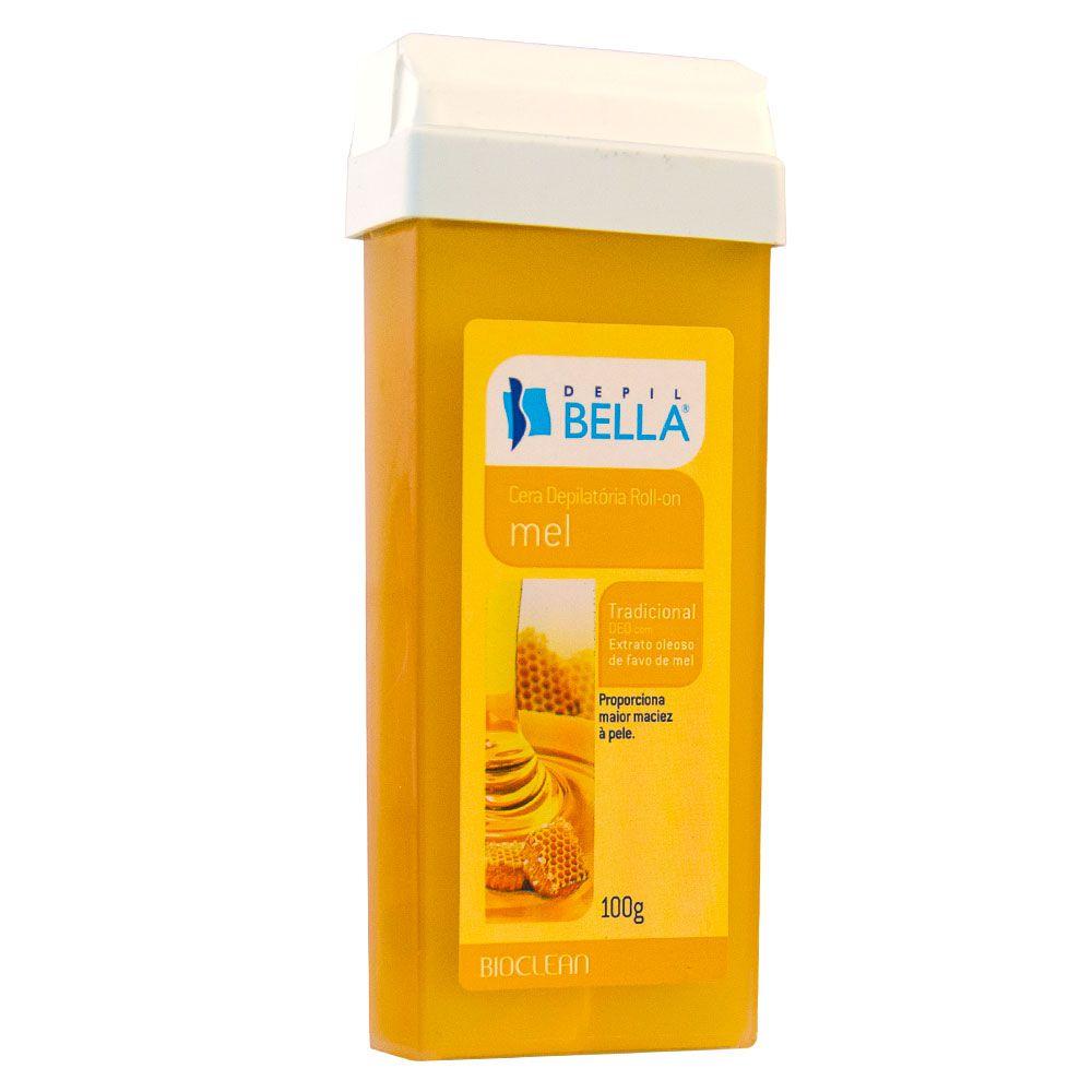 Depil Bella Cera Roll-On Quente Depilatória Tradicional com Mel - 100g