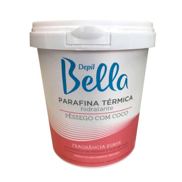 Depil Bella Parafina Térmica Hidratante de Pêssego e Coco - 350g