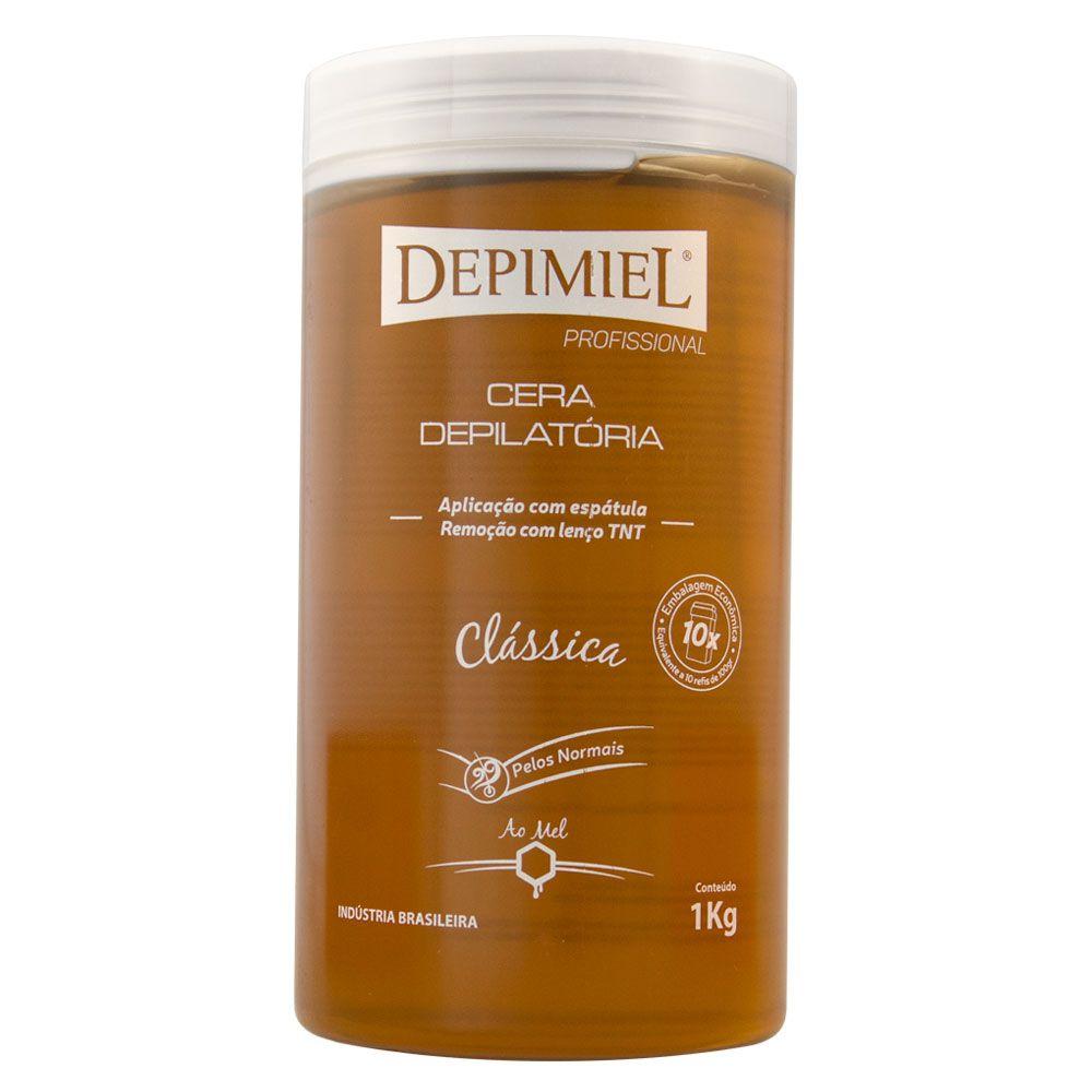 Depimiel Cera de Pote Quente Depilatória Clássica - 1kg