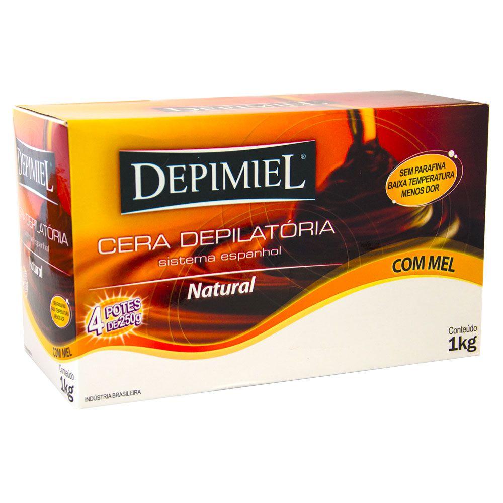 Depimiel Cera Quente Depilatória Natural - 1 kg