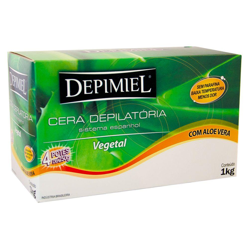 Depimiel Cera Quente Depilatória Vegetal - 1 kg