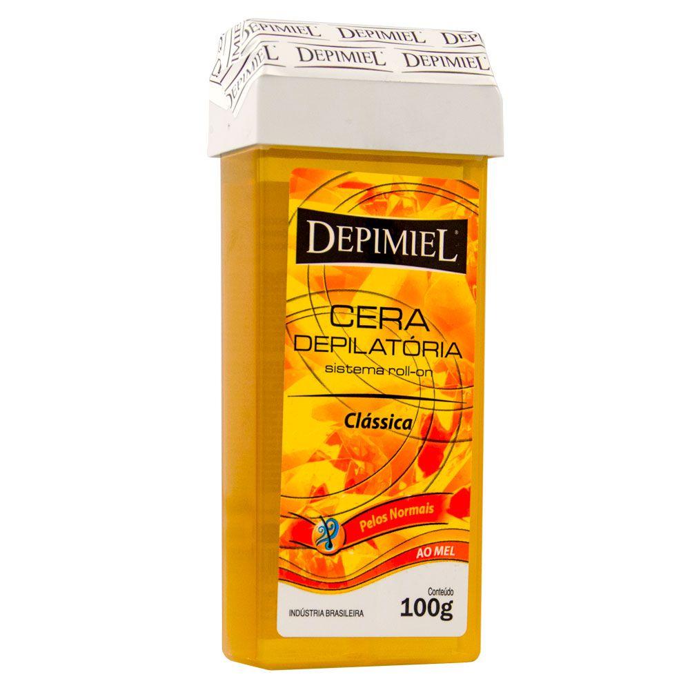 Depimiel Cera Roll-On Quente Depilatória Clássica - 100g