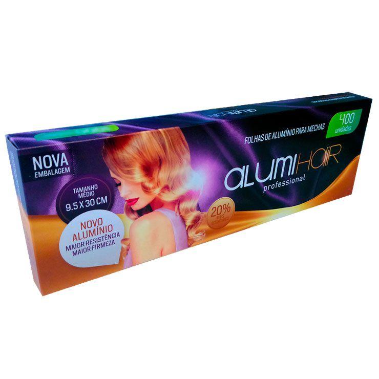 Folhas de Alumínio para Mechas AlumiHair Médio 400 Unidades