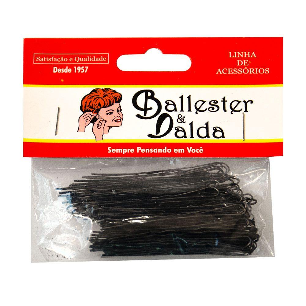 Grampos Invisíveis Ballester Preto Pacote com 100 Unidades