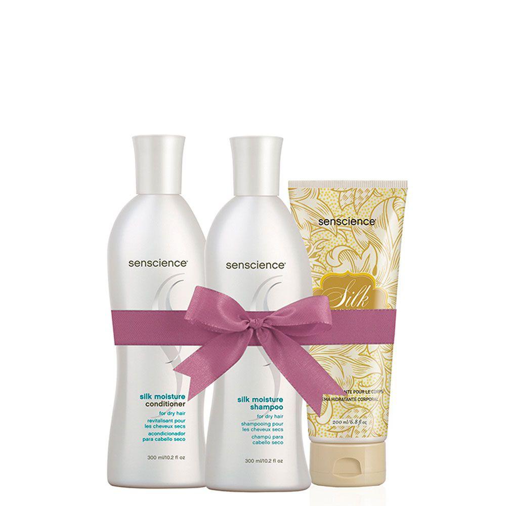Kit Senscience Shampoo Condicionador e Creme Hidratante