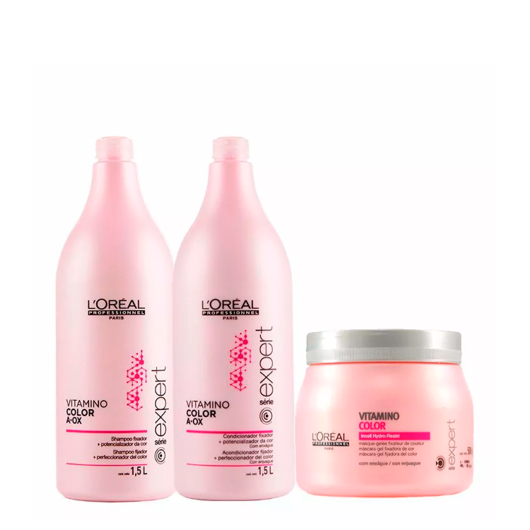 L'Oréal Vitamino Color Kit 3 Produtos Shampoo Condicionador e Máscara