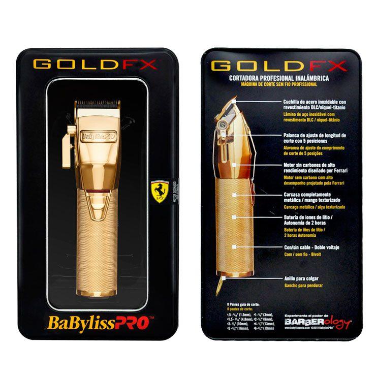 Máquina de Corte BabylissPRO Gold FX Sem Fio Bivolt