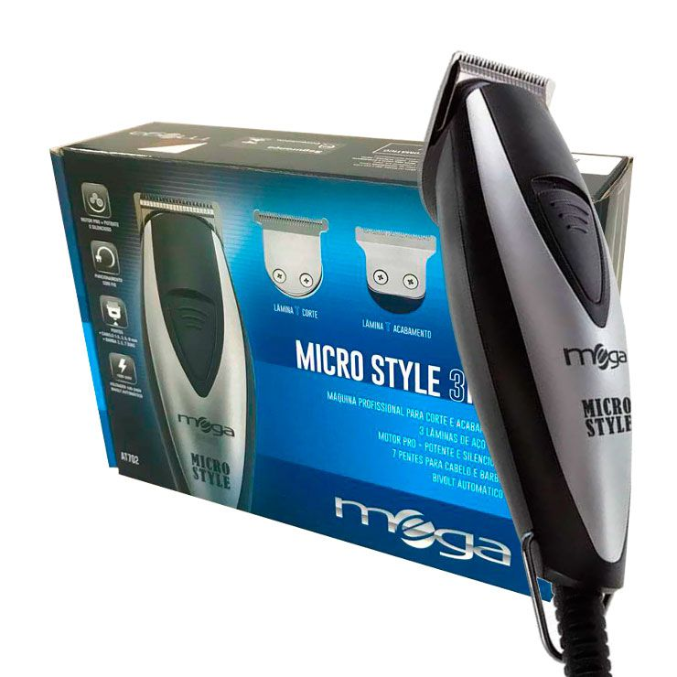 Máquina de Corte e Acabamento Mega Micro Style 3 em 1 Bivolt