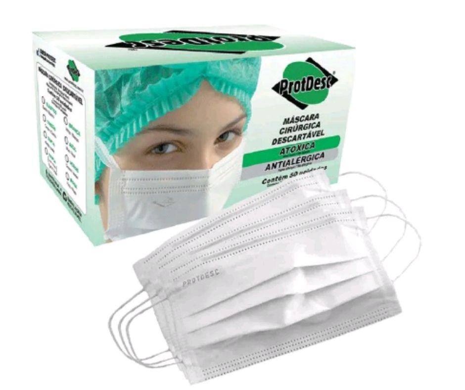 Mascara Tripla Elástico BCA PROTDESC Caixa c/ 50 unidades