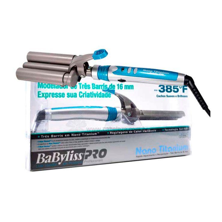 Modelador Babyliss PRO Nano Titanium Triondas 16mm 210ºC/385ºF 110v