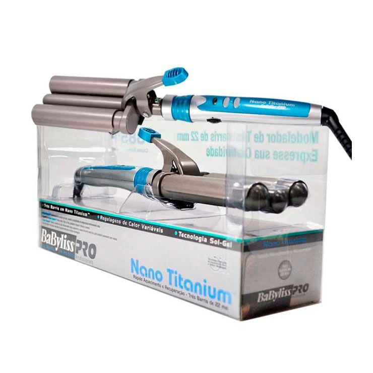 Modelador Babyliss PRO Nano Titanium Triondas 22mm 200ºC/385ºF 110v