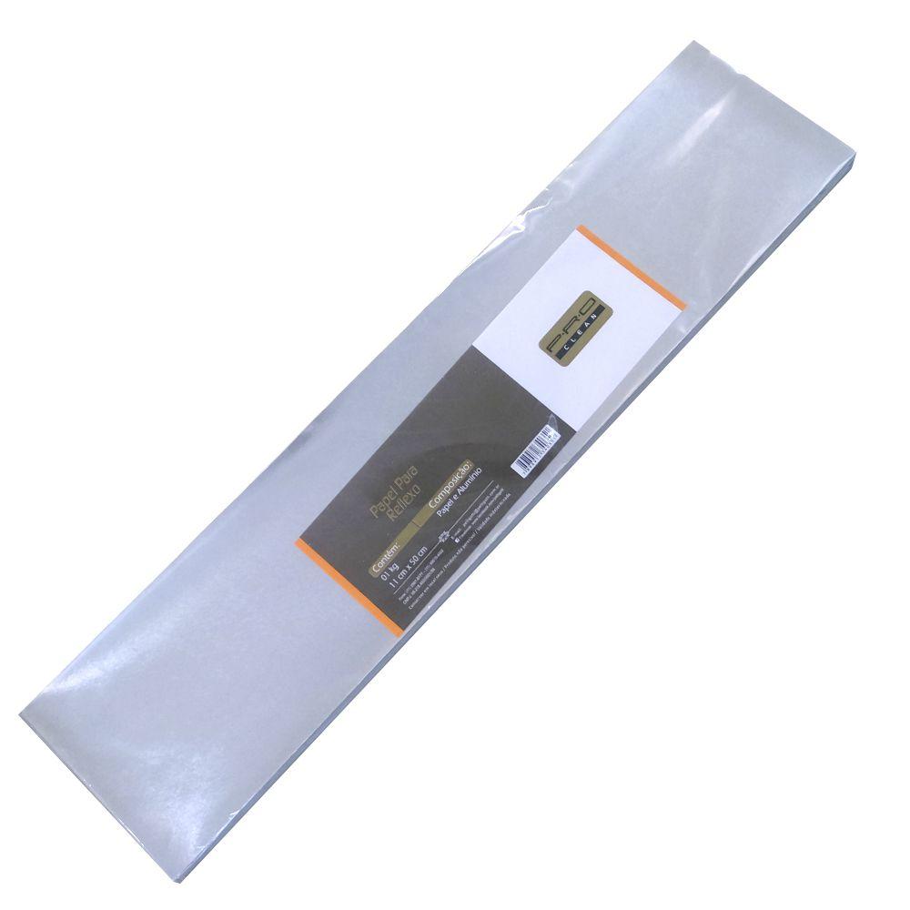 Papel Para Reflexo em Alumínio Grosso Grande 11x50 cm PRO Clean - 1 Kg