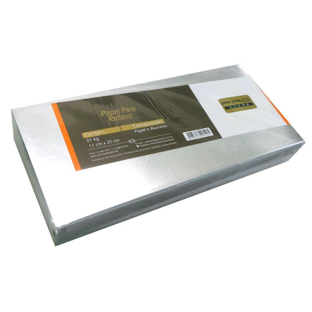Papel Para Reflexo em Alumínio Grosso Médio 11x25 cm PRO Clean - 1 Kg