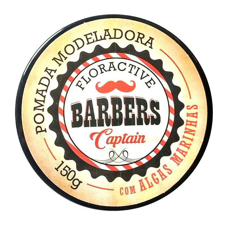 Pomada Modeladora Barbers Captain com Algas Marinhas 150g
