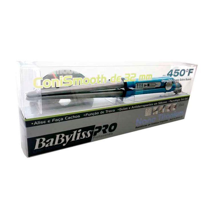 Prancha e Modelador Nano Titanium Babyliss PRO Conismooth 32mm 110v