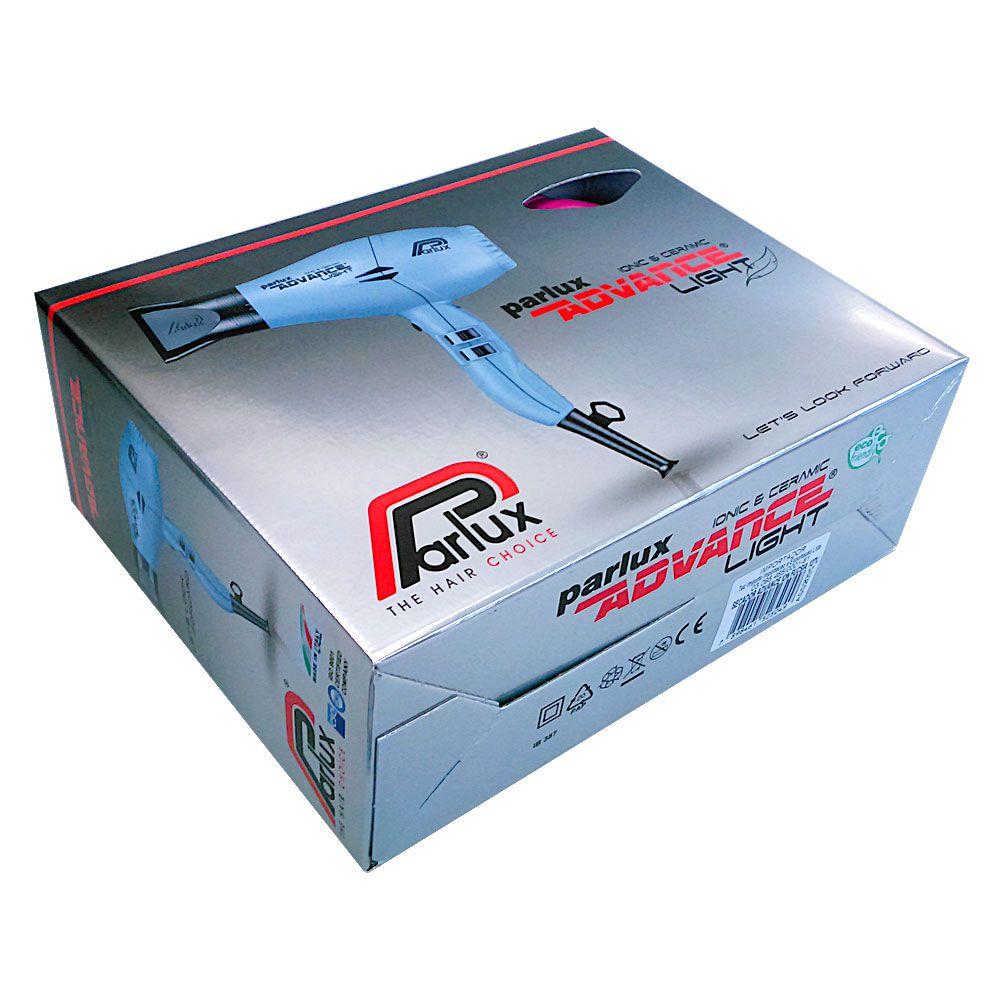 Secador Parlux Advance Light Ionic e Ceramic 2200 Watts Ice - 220V
