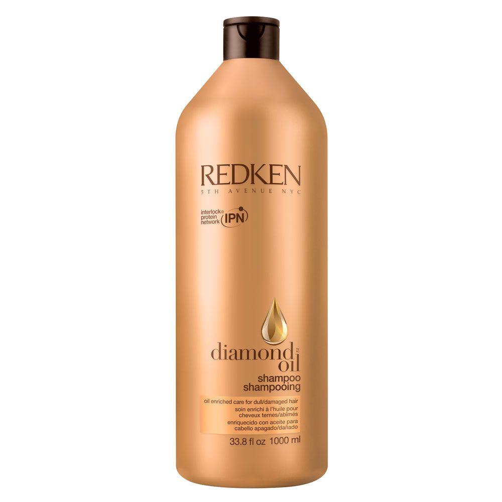 Shampoo de Brilho Diamond Oil Redken Para Cabelos Opacos e Danificados - 1000ml