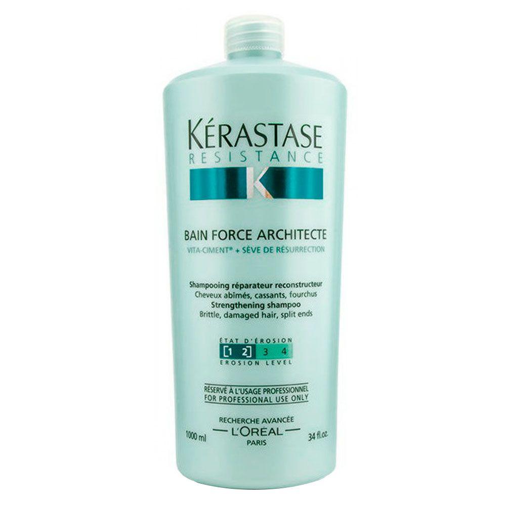 Shampoo Kérastase Resistance Bain Force Architecte - 1000mlml