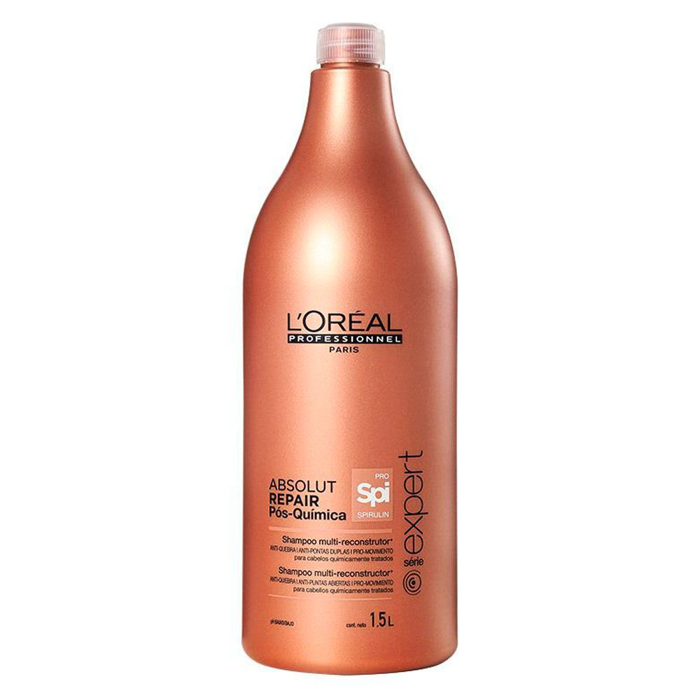 Shampoo Multi-Reconstrutor Absolut Repair Pós Química L'Oréal Professionnel - 1500ml