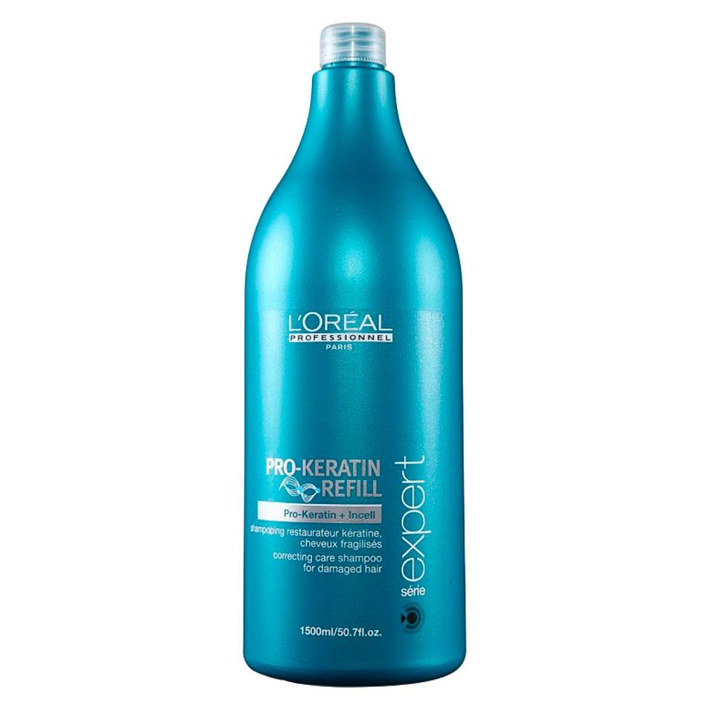 Shampoo Restaurador Para Cabelos Fragilizados PRO-Keratin Refill L'Oréal Professionnel - 1500ml