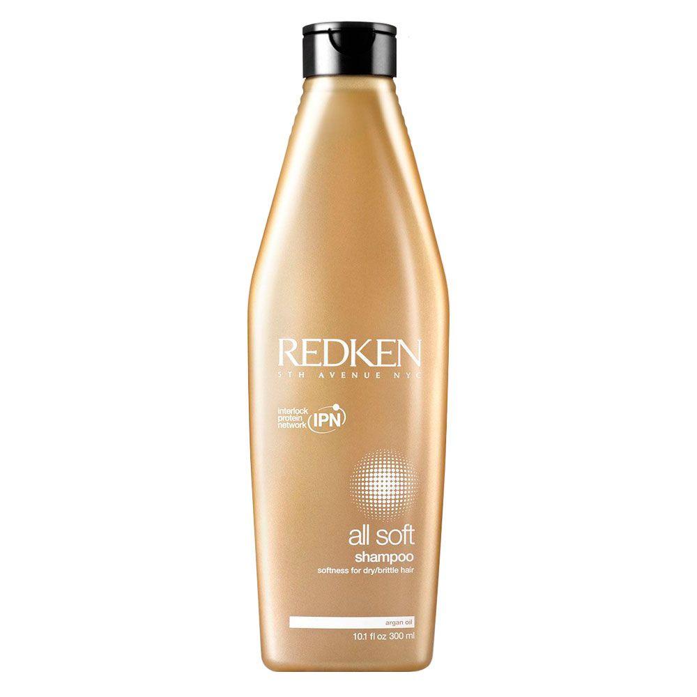 Shampoo Suavizante All Soft Redken Para Cabelos Secos e Quebradiços - 300ml