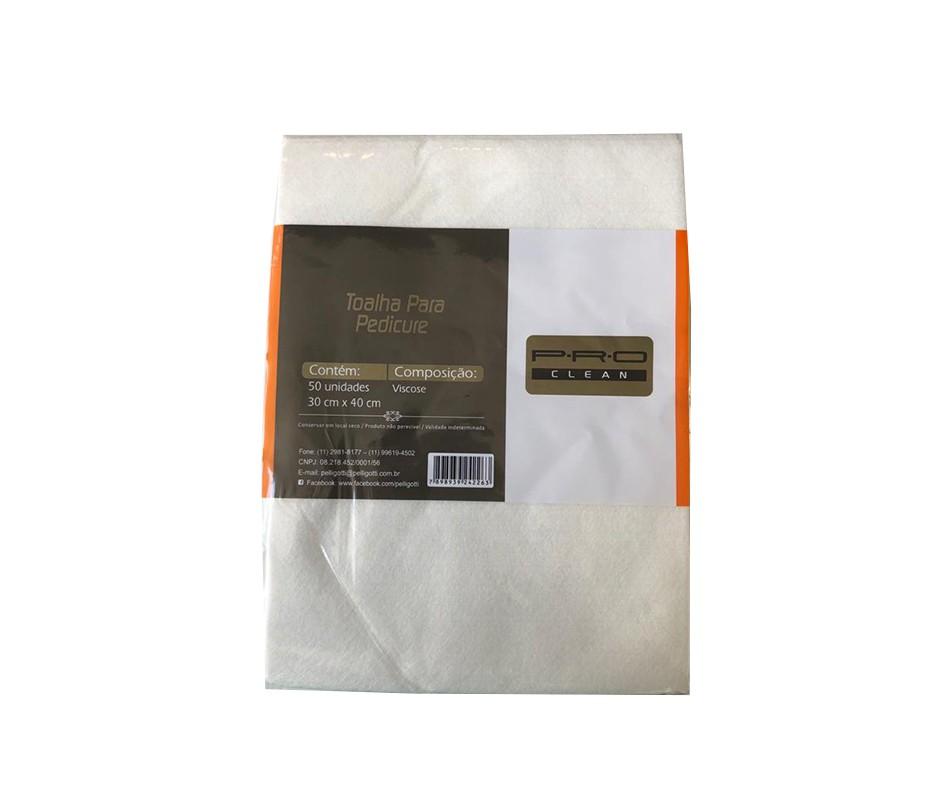 Toalha pedicure Soft C/50un P.R.O CLEAN