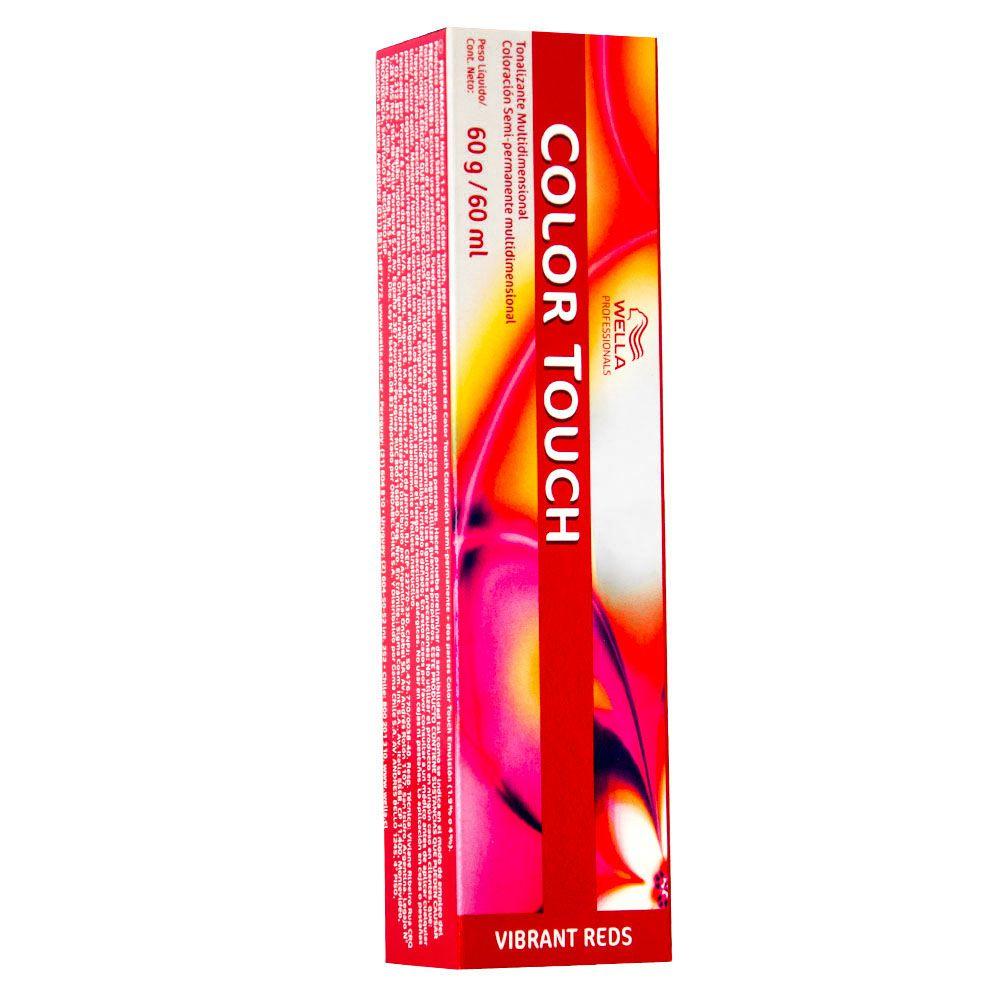 Wella Color Touch Tonalizante 55/54 Castanho Claro Intenso Acaju Avermelhado 60g