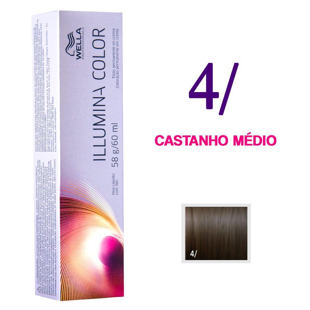 Wella Illumina Color Coloração 4/ Castanho Médio 60g
