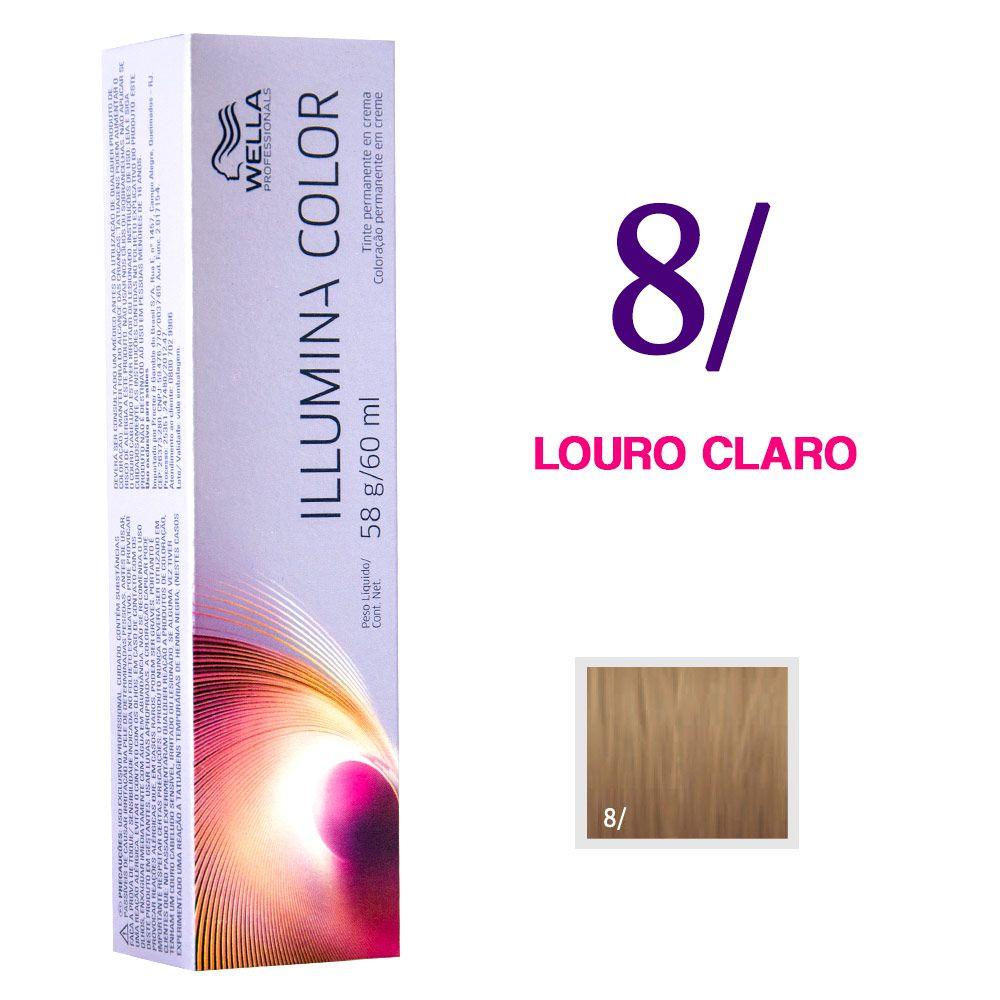 Wella Illumina Color Coloração 8/ Louro Claro 60g