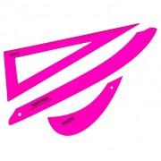 Kit conjunto de régua para costura rosa eco