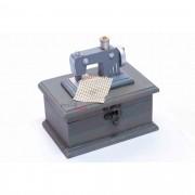 Mini Máquina De Costura Decorativa e porta objeto - Retro