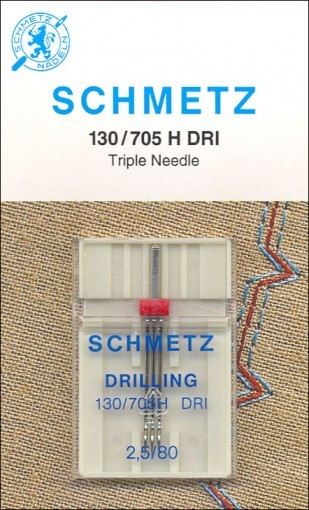 Agulha SCHMETZ para costura Tripla - Para todas as máquinas Domésticas