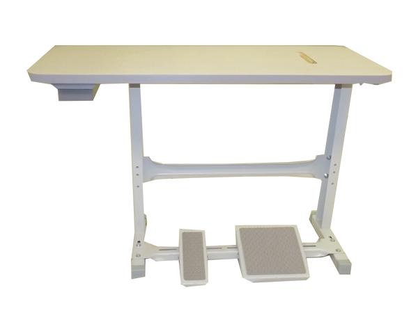 Bancada para máquina de costura industrial - Pé e Mesa