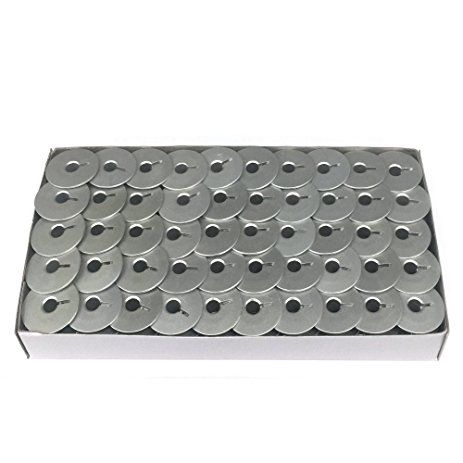Carretilha de Alumínio para Máquina de costura Reta industrial - Caixa com 100 Bobinas