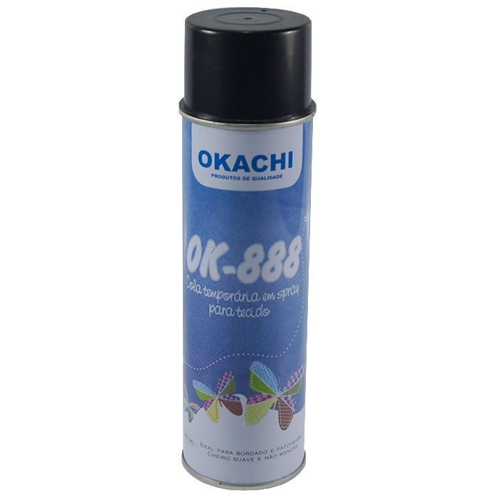 Cola temporária em Spray para Tecido - Okachi
