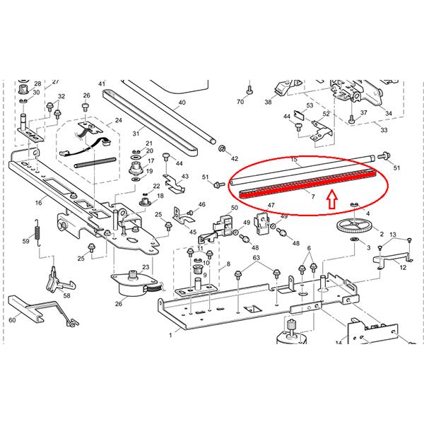 Correia de Transmissão PE 770 Ref- XA2123051