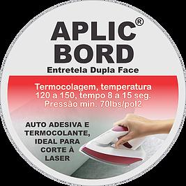 Entretela Fiorella APLIC BORD Dupla Face, Auto adesiva e Termocolante - Rolo de 50 Metros