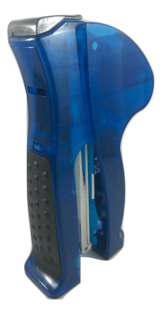 Grampeador de mão com porta durex