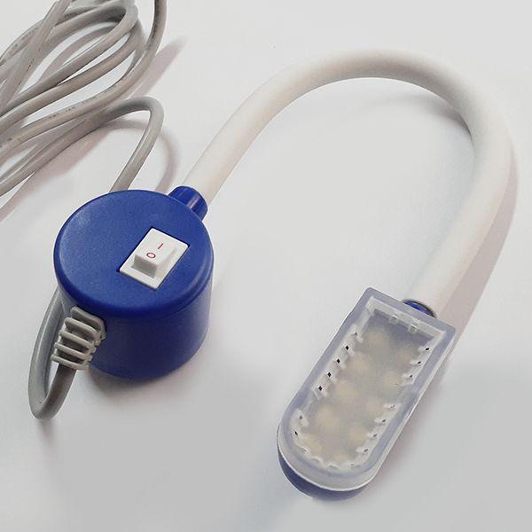 Luminária 10 LEDs com haste flexível, capa de proteção nos Leds e fixação magnética - LANMAX
