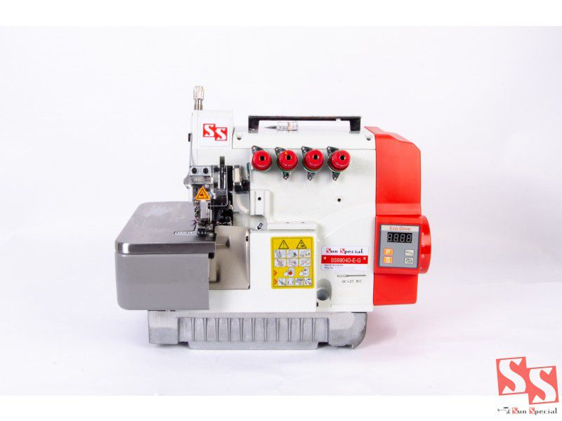 Máquina Costura Overloque Ponto Cadeia Direct Drive com Mesa Bivolt SS9904D-E-G SUN SPECIA
