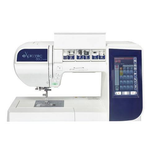 Máquina de costura e bordado Elna Expressive 860 - 200 pontos de costura|171 bordados - Área de Bordado 17 x 20