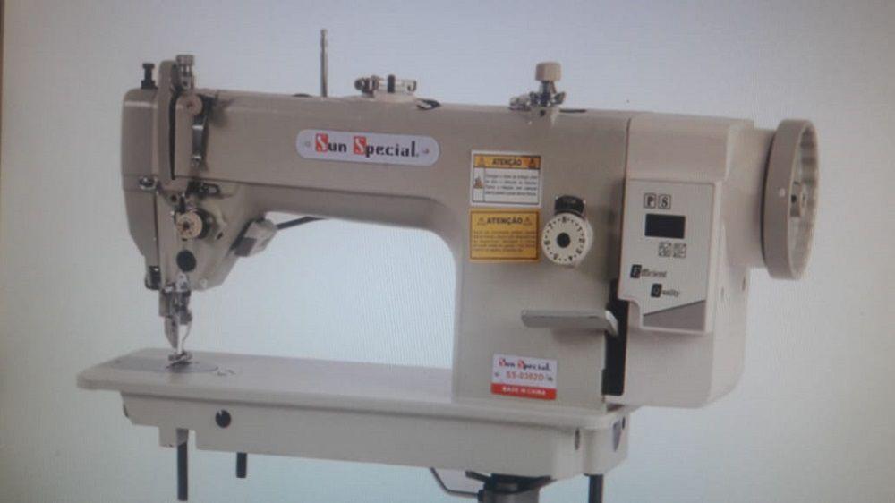 Máquina de Costura Industrial Reta Transporte Duplo SUN SPECIAL Direct Drive SS0302DW