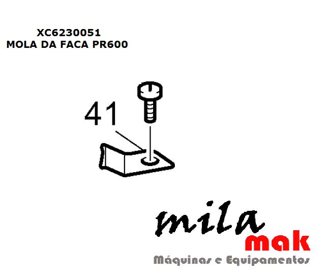Mola da Faca PR600 -PR650 THREAD HOLDING PLATE cod. XC6230051