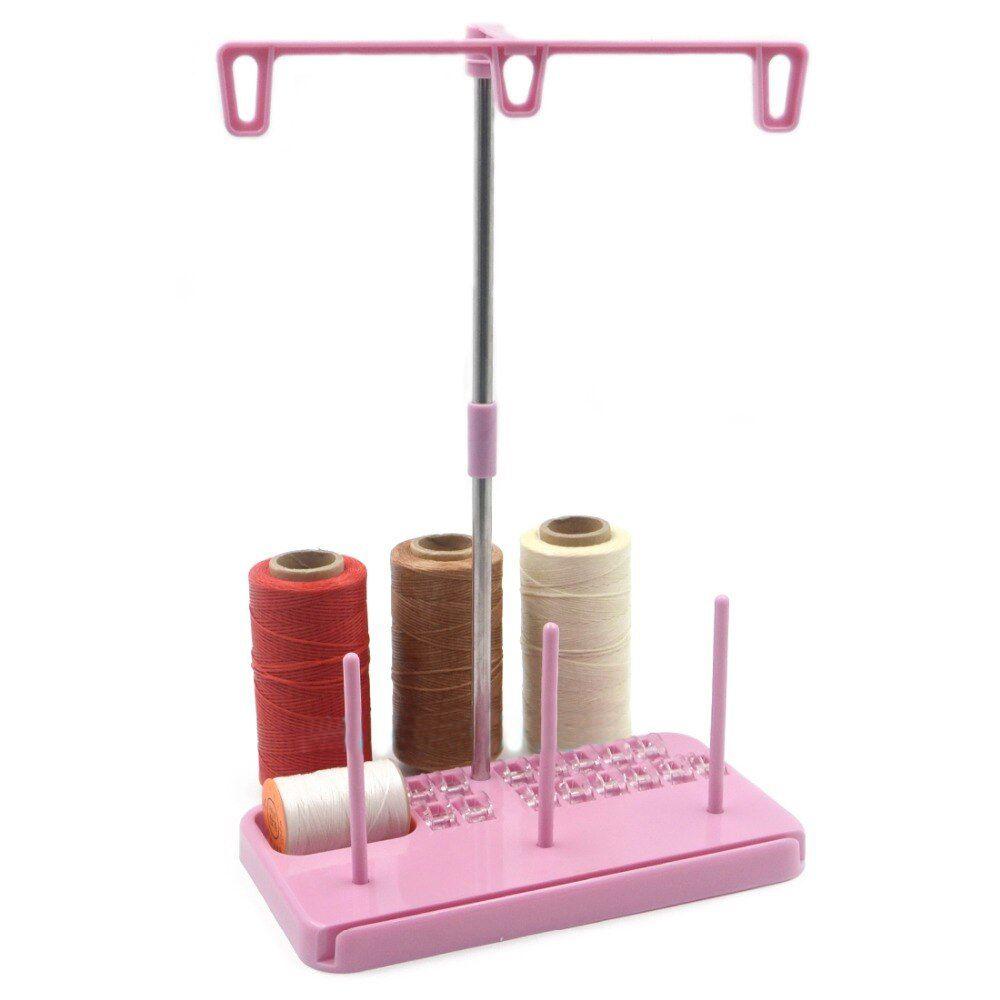 Organizador de Costura para Linhas, bobinas e Réguas - na cor Rosa