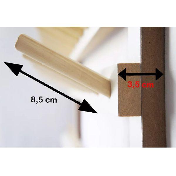 Porta fios em Madeira para 50 cones de linha e suporte para viés - Para cones Médios e Grandes