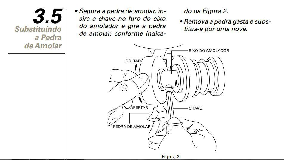Rebolo para amolar disco de máquina de corte 4'- Pedra de afiar