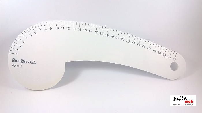Régua curva para Costura e Patchwork - 32 cm